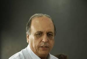 O governador do Rio, Luiz Fernando Pezão Foto: Gabriel de Paiva / Agência O Globo