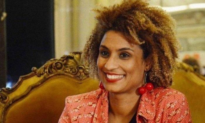 A vereadora Marielle Franco foi assassinada em 14 de março, junto com o motorista Anderson Gomes Foto: Reprodução