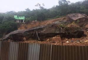 Área onde ocorreu o deslizamento, no Morro Boa Esperança, em Niterói Foto: Dayana Resende