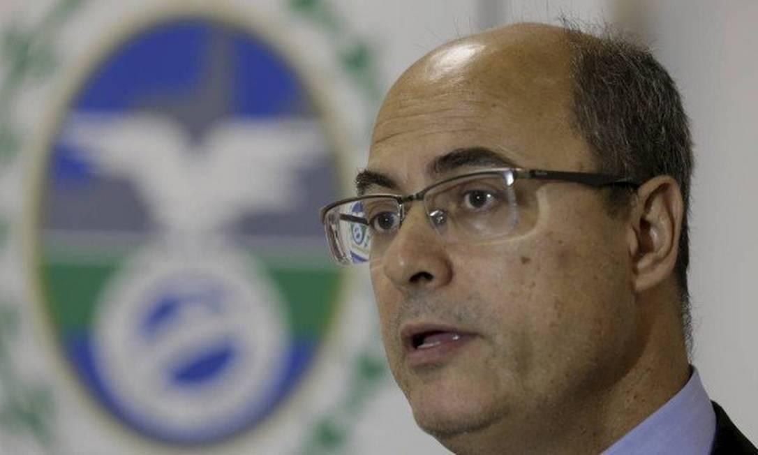 Governador eleito, Wilson Witzel, durante coletiva Foto: Marcelo Theobald / Agência O Globo