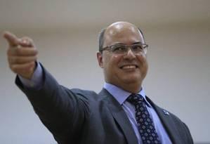 O governador do Rio, Wilson Witzel Foto: Roberto Moreyra / Agência O Globo