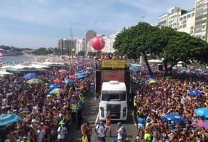 Bloco da Favorita, em Copacabana Foto: Foto: Camila Zarur
