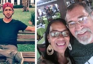 Mauro e a mãe, Isabel, morreram na hora do deslizamento em Guaratiba; o pai, Áureo Paz, faleceu neste sábado Foto: Redes sociais