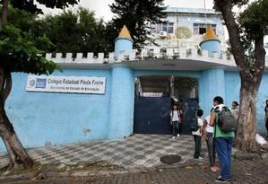 Colégio estadual Paulo Freire, invadido por ladrões no ano passado Foto: Bruno Gonzalez / Bruno Gonzalez