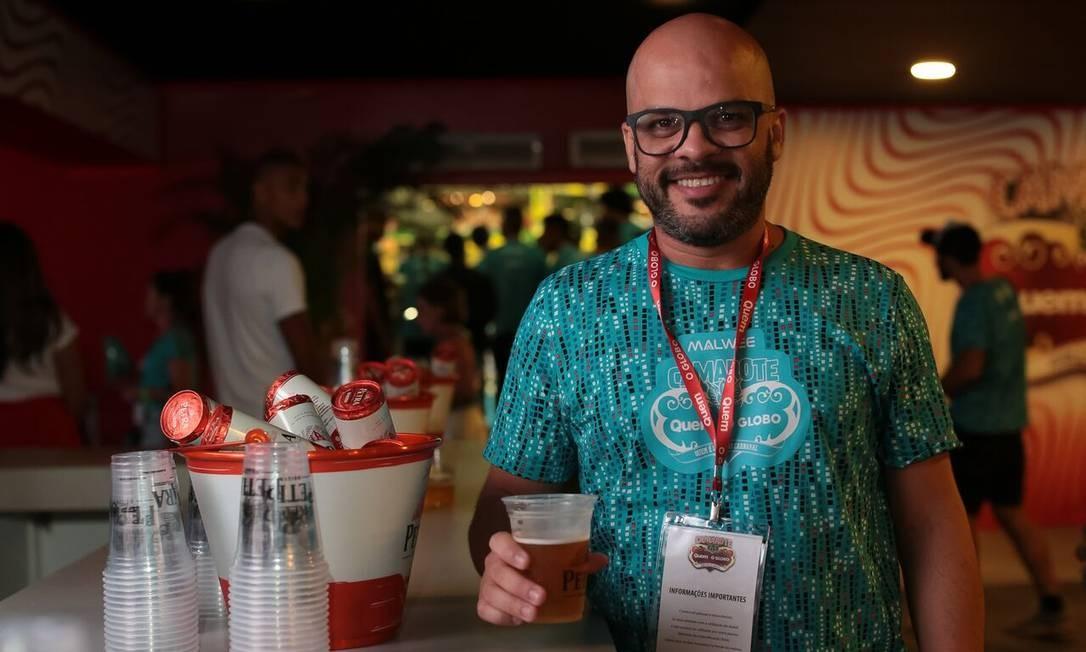 Para o administrador Eduardo Nunes, a Petra Origem se encaixou perfeitamente ao carnaval carioca. Foto: Marcus Steinmeyer / Marcus Steinmeyer