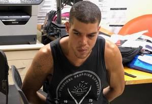 O lutador de jiu-jitsu Igor Uriel Tron Pereira Lomba, de 28 anos, foi preso na Tijuca Foto: Divulgação