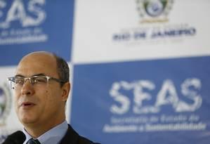 O governador Wilson Witzel debateu com deputados em audiência na Câmara Foto: Roberto Moreyra / Agência O Globo