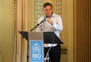 O prefeito Marcelo Crivella Foto: Paulo Sergio / Agência O Globo