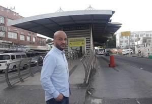 Felipe Michel na estação Gastão Rangel: sem guarda municipal Foto: Divulgação