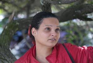 Fernanda Pacheco, mãe de Cristina Pacheco, que teve 80 % do corpo queimado por causa da chuva de gasolina que caiu em sua casa . Foto: Cléber Júnior / Agência O Globo