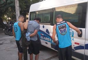 Homem foi detido em flagrante por receptação em Ipanema Foto: Divulgação Guarda Municipal
