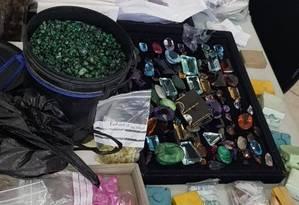 Material era utilizado por bando que falsificava jóias Foto: Reprodução/Polícia Civil