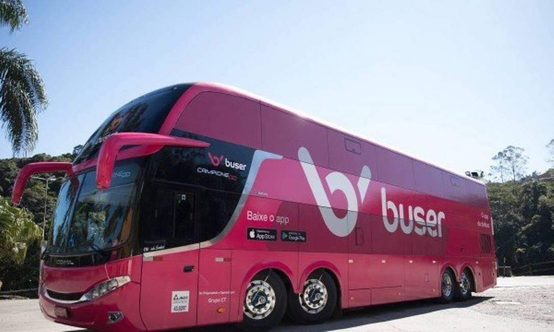 A disputa de empresas de ônibus com a Buser chegou ao Supremo Foto: Buser / Divulgação