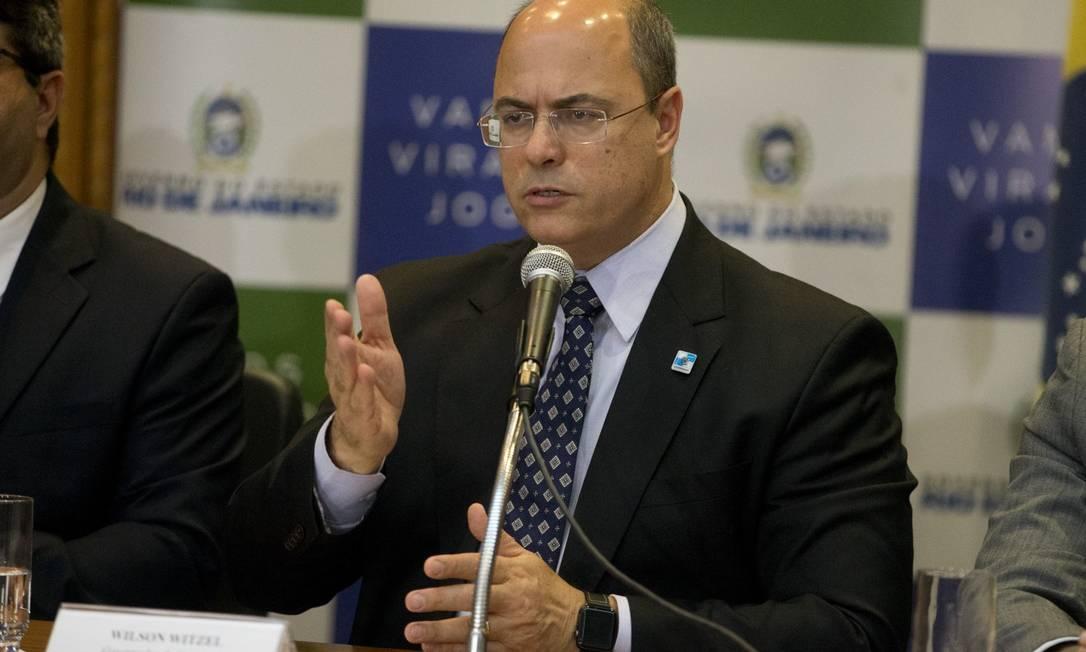 O governador Wilson Witzel Foto: Márcia Foletto / Agência O Globo