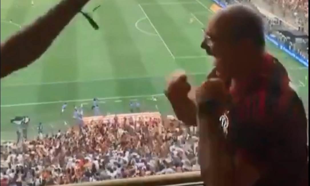 Witzel comemora gol do Flamengo na Libertadores Foto: Reprodução / Twitter