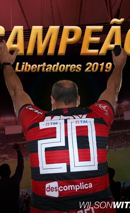Postagem do governador comemorando o título do Flamengo Foto: Reprodução / Twitter