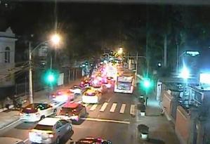 Ação policial trava trânsito na Zona Sul Foto: reprodução