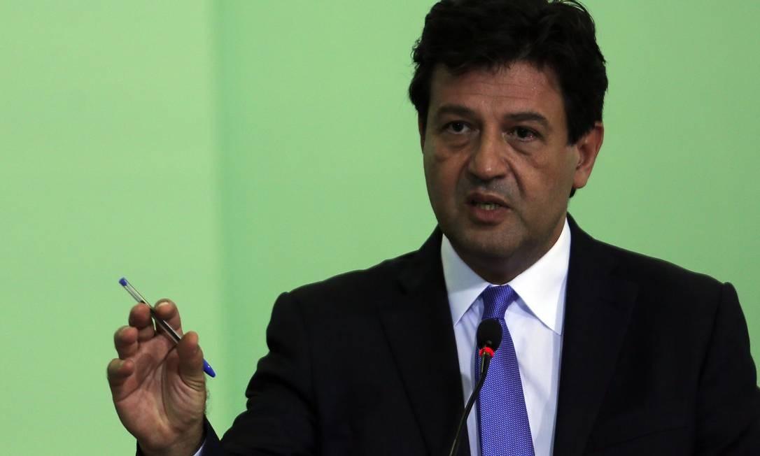 O ministro da Saúde, Luiz Henrique Mandetta Foto: Jorge William/12-11-2019 / Agência O Globo