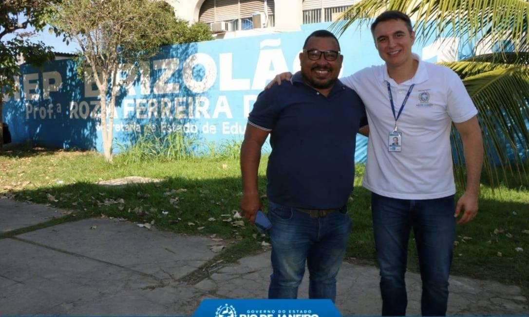 Pedro Fernandes e o diretor Carlos Henrique Foto: Redes Sociais