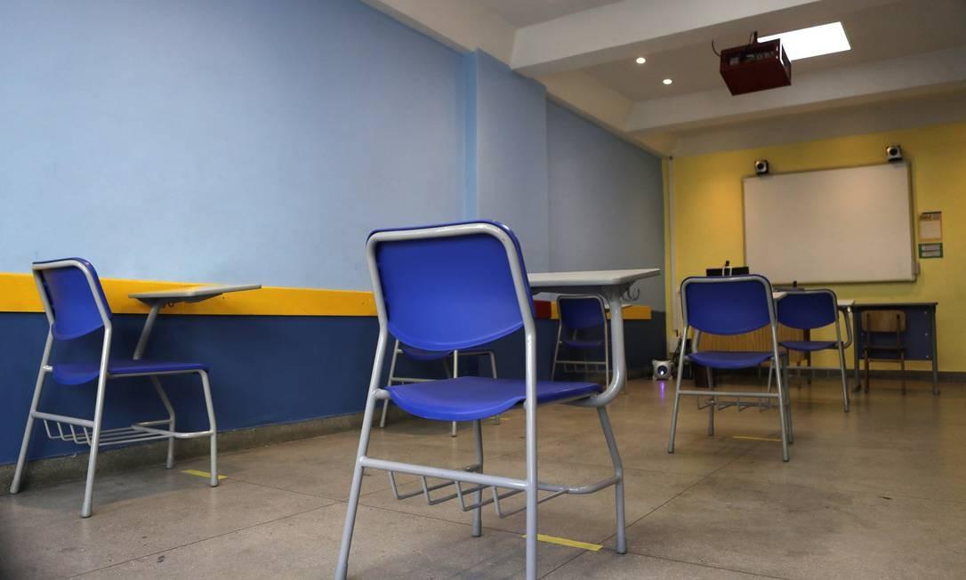 Colégio Camões Pinochio, na Freguesia Foto: Luiza Moraes / Agência O Globo