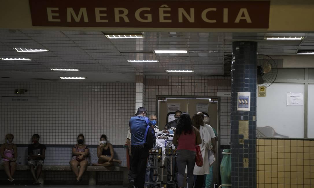 RI - Rio de Janeiro (RJ) 29/03/2021 - Matéria sobre falta de insumos nos hospitais. Emergência do Hospital Salgado Filho no Meier. Foto Alexandre Cassiano Foto: Alexandre Cassiano / Agência O Globo