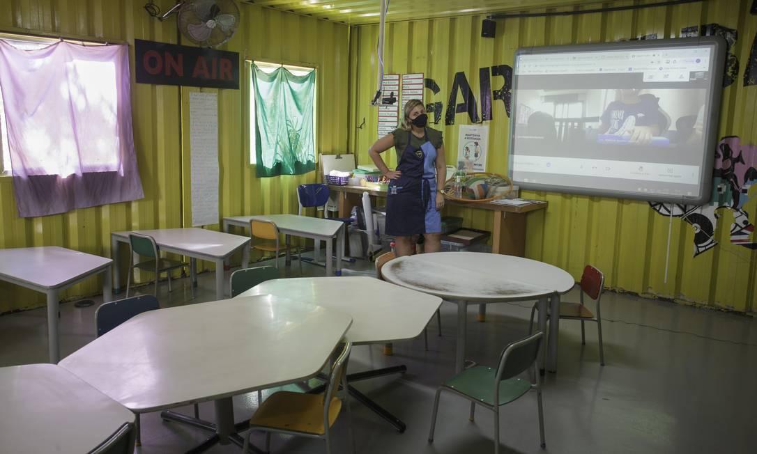 Escola Mopi da Tijuca: salas vazias Foto: Márcia Foletto / Agência O Globo