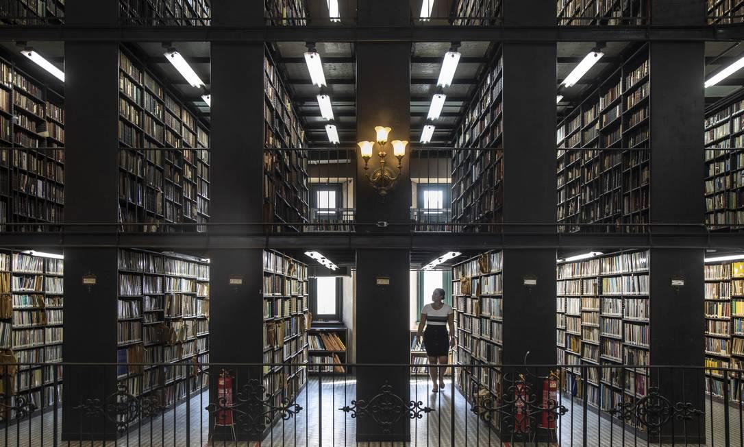 Interior da Biblioteca Nacional, no Rio de Janeiro Foto: Divulgação