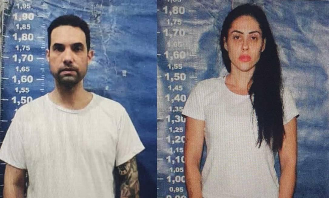 Jairinho e Monique, em fotos após prisão Foto: Reprodução