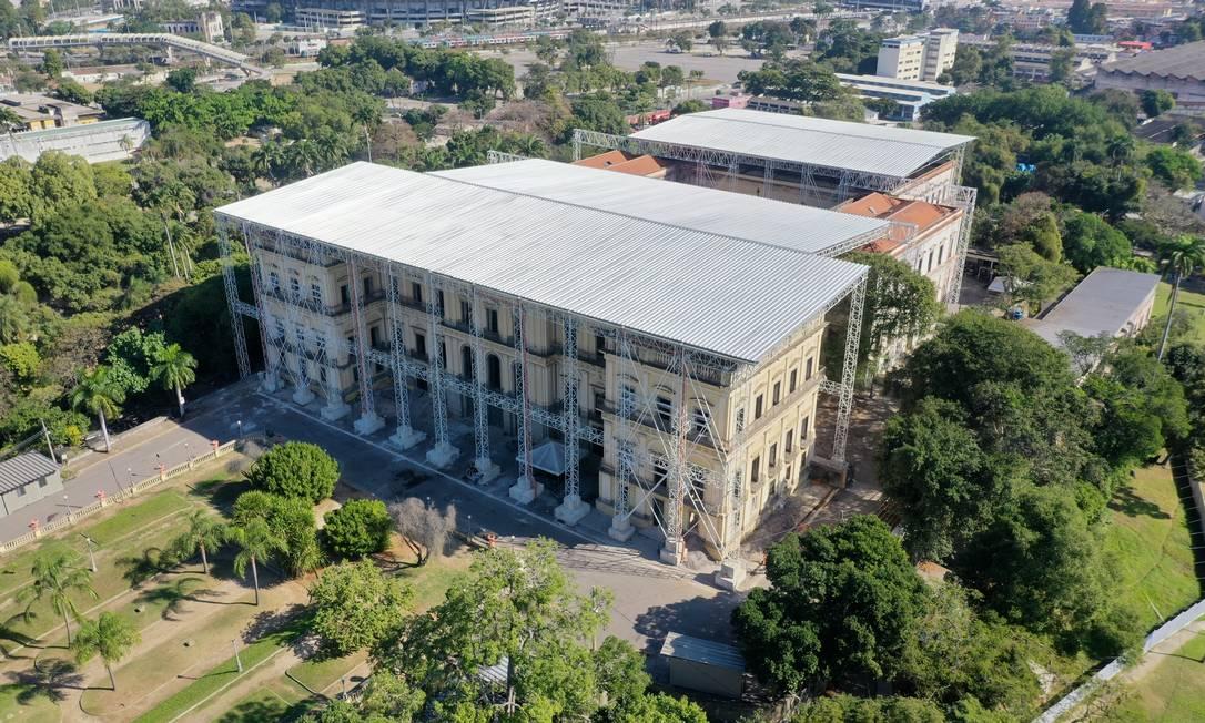 Museu Nacional lança site com exposição virtual e informações sobre as obras, que devem acabar até 2026