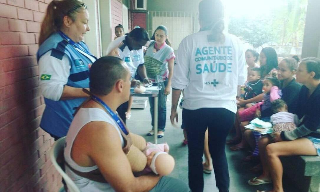Atividade no Centro Municipal de Saúde Silvio Barbosa, onde funcionários se intoxicaram Foto: Reprodução / Instagram