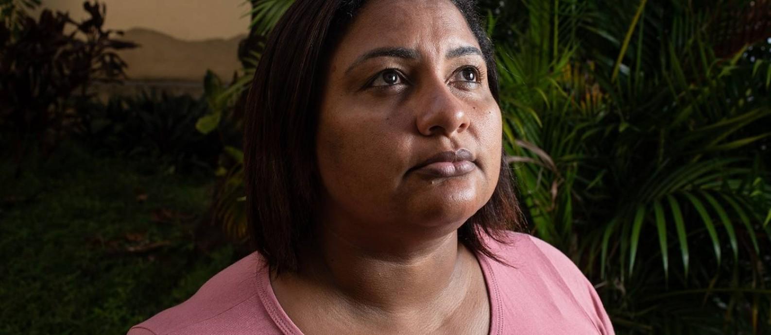 Luciane Nogueira, viúva do músico morto em Guadalupe Foto: Brenno Carvalho / Agência O Globo