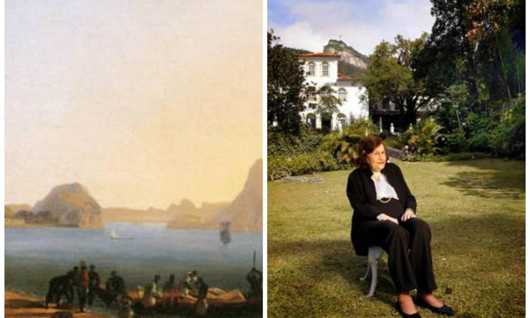 À esquerda, uma das peças em disputa; e, ao lado, Maria Cecília Geyer, que reuniu as obras com o marido Foto: Arquivo O Globo