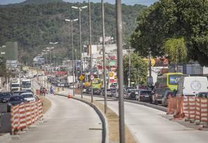 Obras da Transoceânica Foto: Analice Paron / Agência O Globo