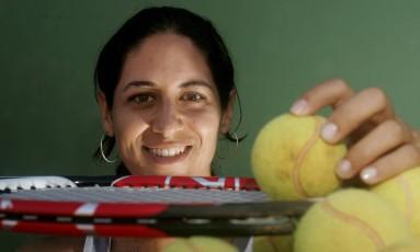 A tenista Joana Cortez, campeã de tênis de praia Foto: Agência O Globo / Marcos Alves