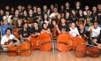 Os músicos da Orquestra Sinfônica Aprendiz, formada por jovens entre 14 e 26 anos