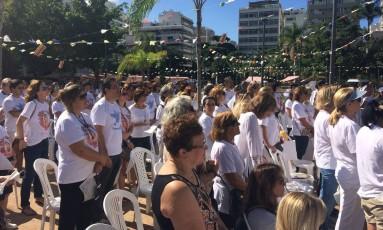 Manifestação pacífica em Ipanema Foto: Divulgação
