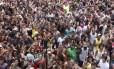 Tradicional bloco das piranhas de Niterói lotou a Avenida Amaral Peixoto no dia 31 de dezembro de 2014 Foto: Divulgação/Neltur