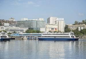 Movimentação das barcas em NIterói Foto: Analice Paron / Agência O Globo