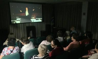 Auditório tem capacidade para receber 35 pessoas por sessão Foto: Gabriel Menezes