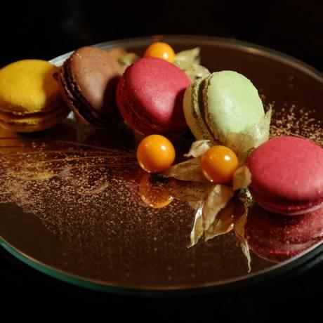 Receita inclui os sabores maracujá, chocolate, framboesa e pistache Foto: Brenno Carvalho / Agência O Globo