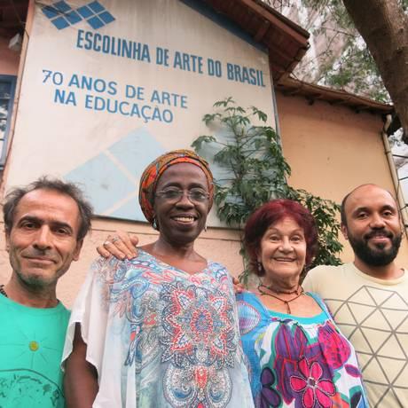 Goulart, Sandra Nunes, Carmen Goulart e Palma dão novo ar à Escolinha Foto: Hugo Limarque / Agência O Globo