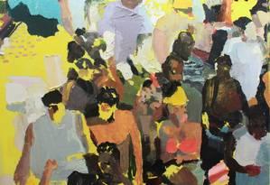 """Em """"Massas"""", Arthur Arnold retrata como a noção de indivíduo se perde em meio a aglomerações Foto: Divulgação"""