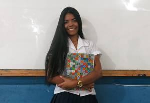 Gisele tem projeto de reforço escolar. Foto: Hugo Limarque / Agência O Globo