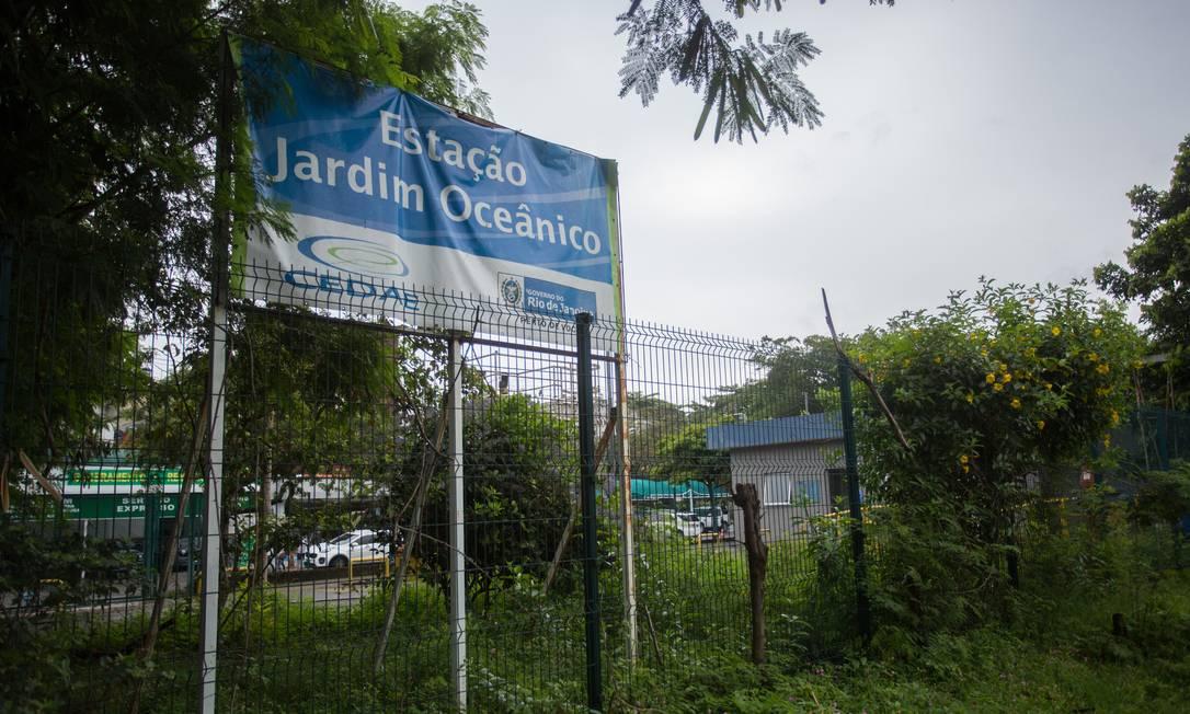 Estação elevatória do Jardim Oceânico Foto: Emily Almeida / Agência O Globo