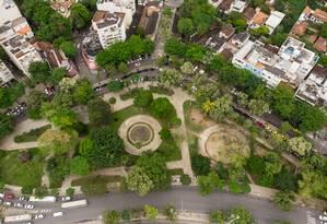 Praça Santos Dumont, adotada neste ano. Foto: Brenno Carvalho / Agência O Globo
