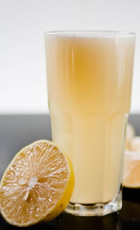 O Bibi Sucos oferece um suco cítrico feito com limão-siciliano, limão taiti e laranja (R$ 8,10/300ml) Foto: Divulgação/Rodrigo Castro