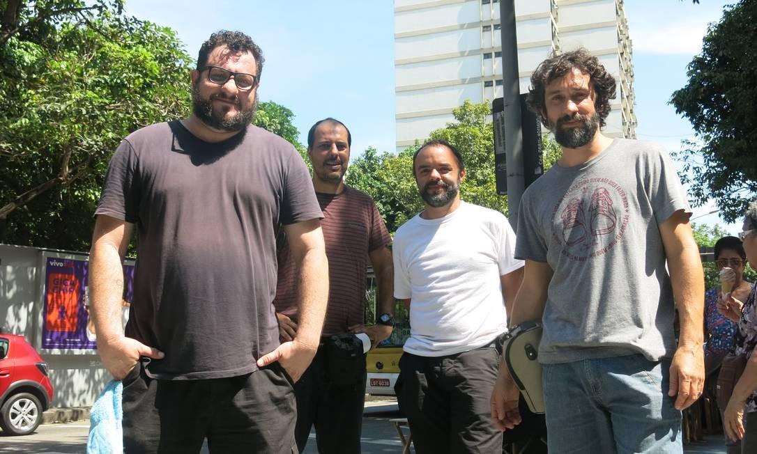 """O quarteto mineiro do projeto """"Moradores"""". Foto: Hugo Limarque / Agência O Globo"""