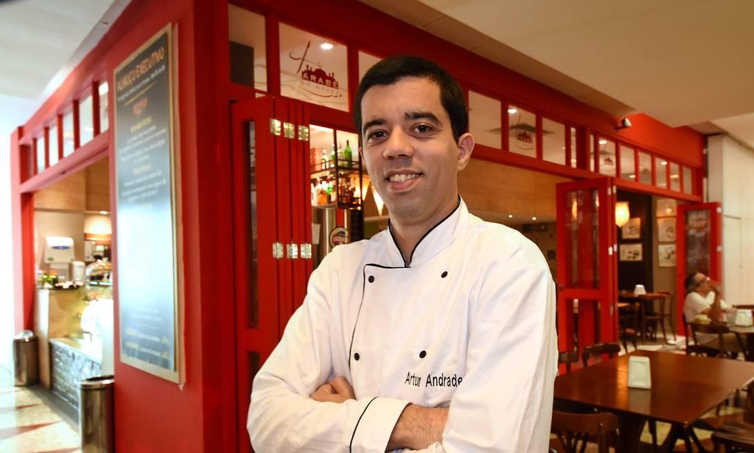 Artur Andrade é chef do Árabe da Gávea há quatro meses. Foto: Divulgação