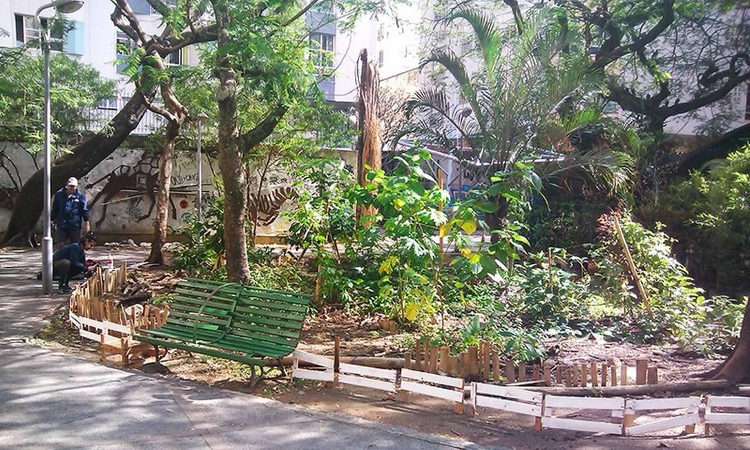 Praça foi remodelada com o cultivo de ervas aromáticas Foto: Reprodução