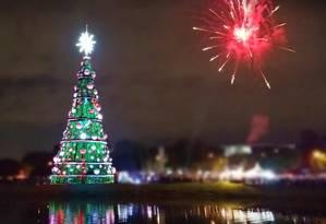 Árvore de Natal de Niterói poderá chegar a 50 metros de altura Foto: Divulgação
